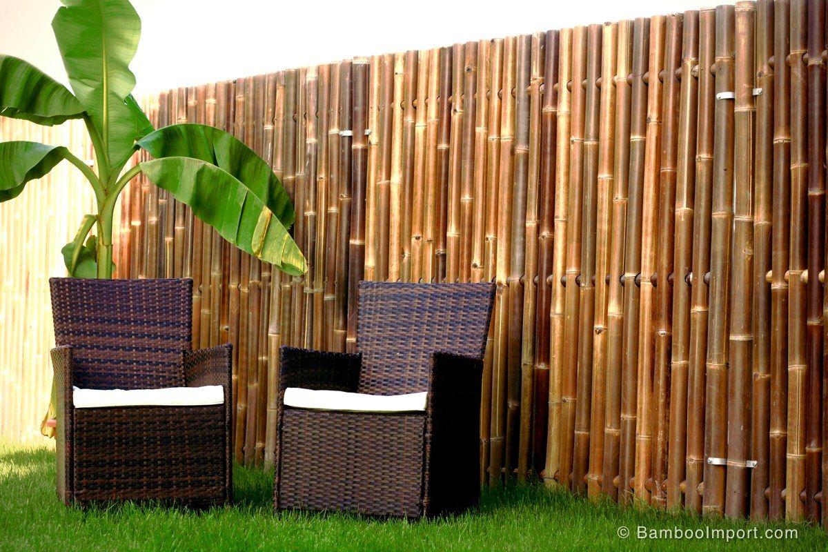 Zwart Bamboescherm Giant 180 x 180 cm Tuinmuur