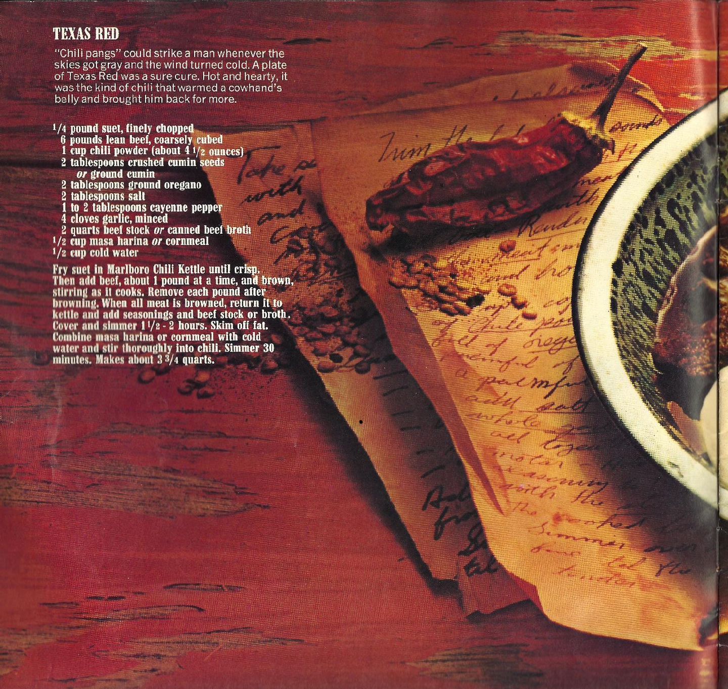 Famous Chili Recipes From Marlboro Country 1979 Philip Morris Cookbook Documents Famous Chili Recipes Chili Recipes Marlboro Chili Recipe