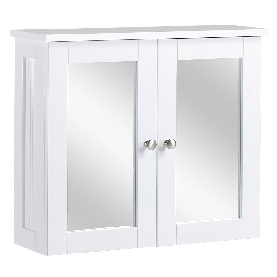 Tongue And Groove B And Q: Nicolina Double Door White Mirror Cabinet