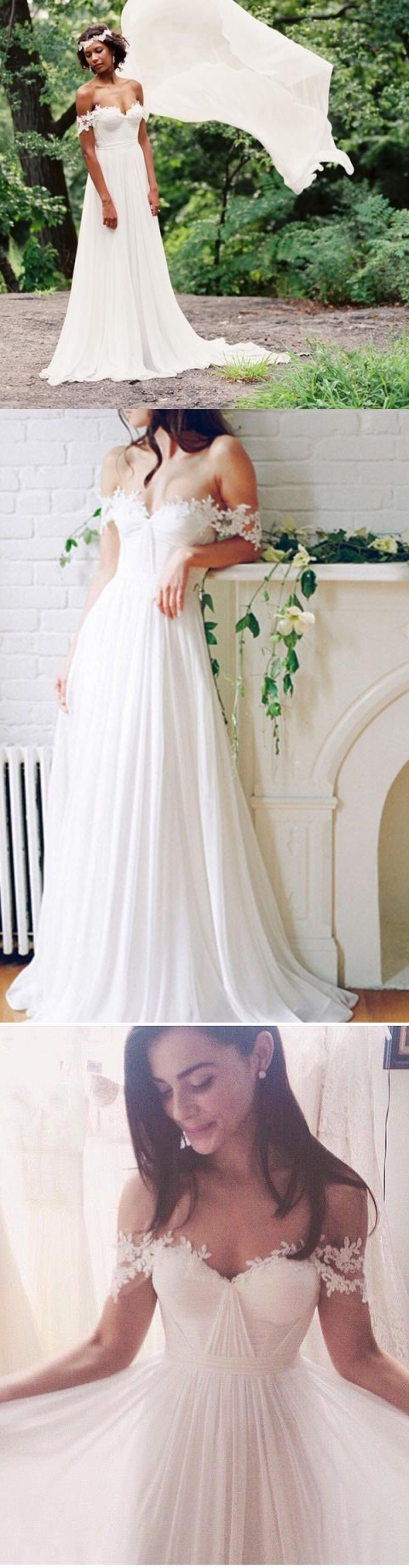 Wedding dress for evening  Prom Dresses Offtheshoulder Short Train Prom DressEvening Dress