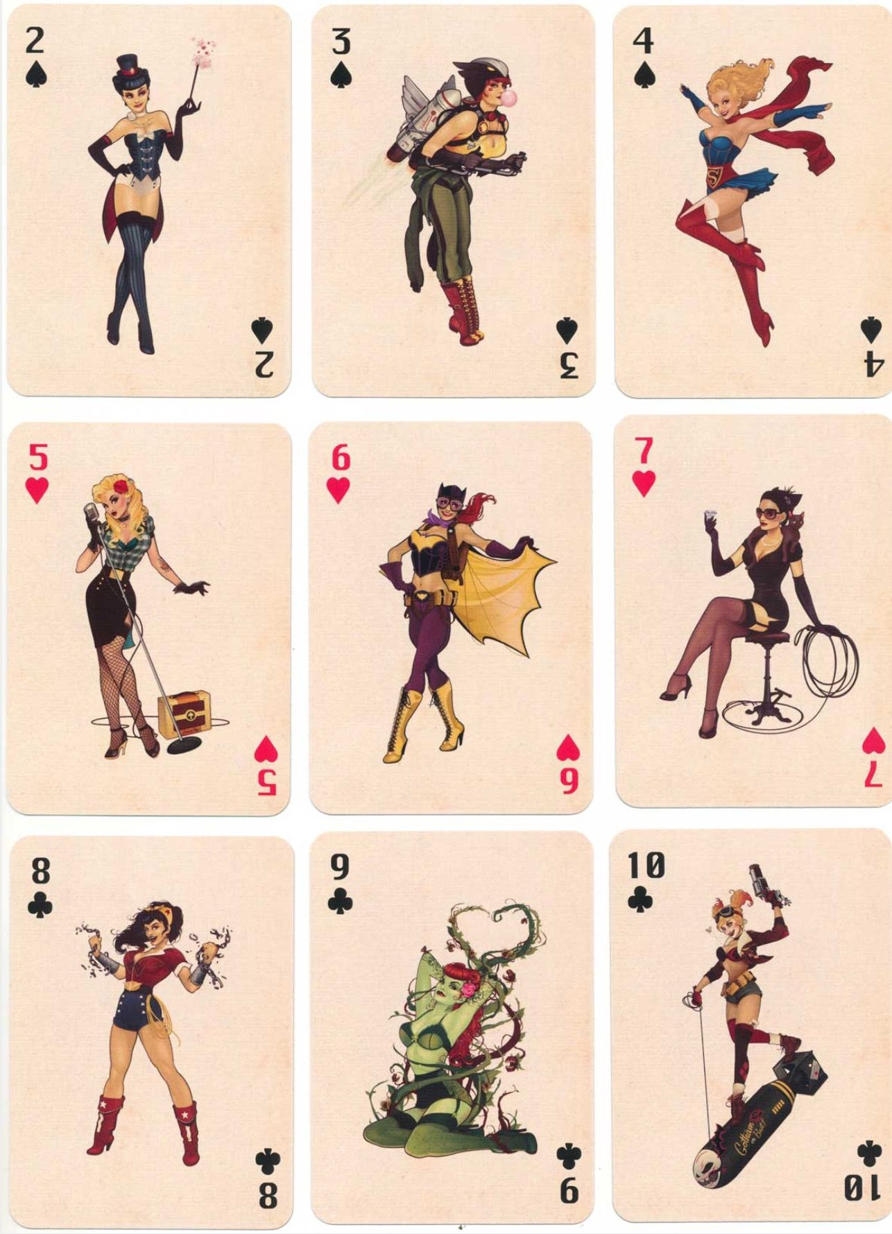 Dc bombshells playing cards art i love pinterest playing cards