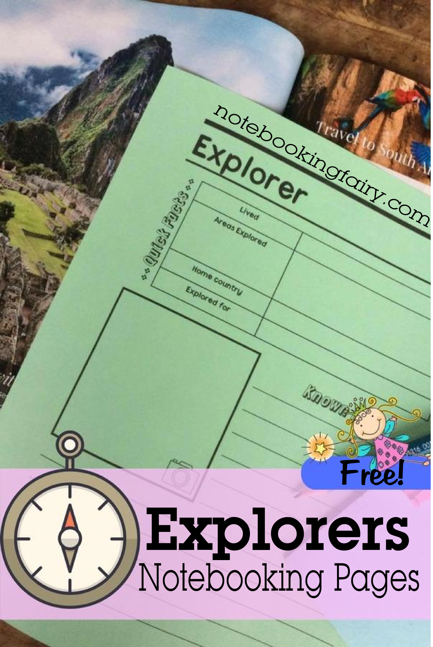 Explorers Notebooking Pages Free From The Notebooking