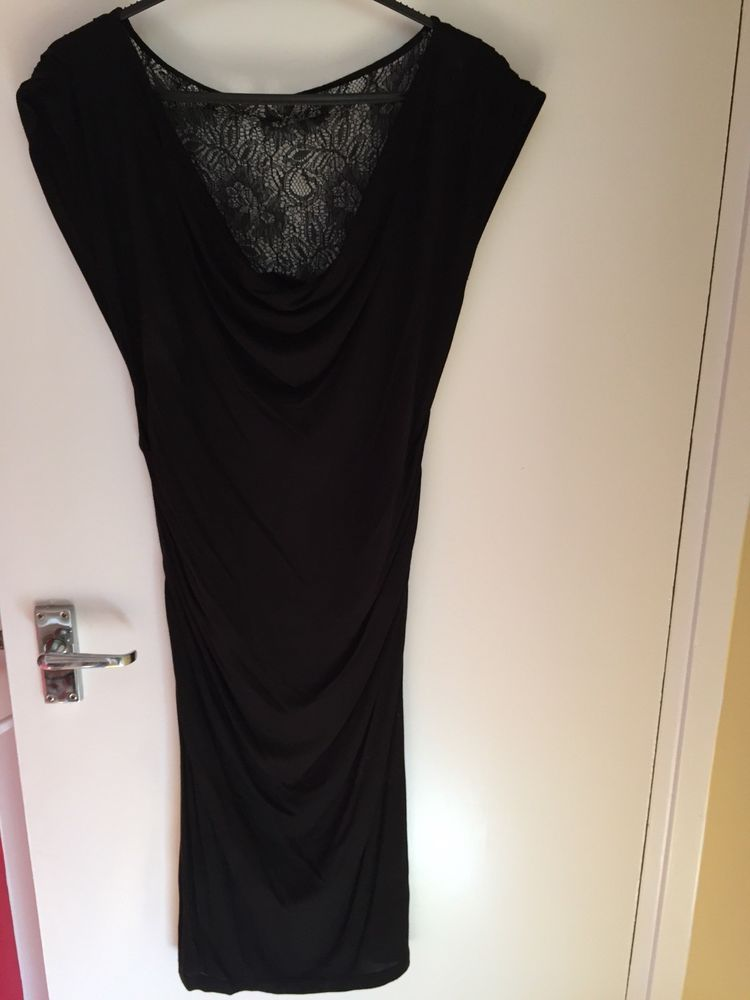 d224259b4 Slinky TED BAKER Dress Size 4 (UK 12 14) Black with Lace Back and Ruching   fashion  clothing  shoes  accessories  womensclothing  dresses (ebay link)
