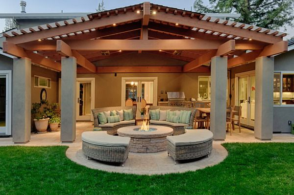 set the wood covered patio ideas for outdoor living - Outdoor Living Patio