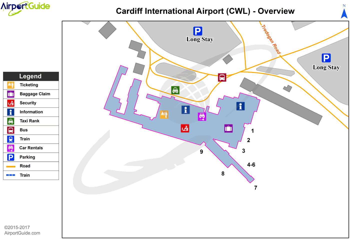 Cardiff Cardiff International (CWL) Airport Terminal Map