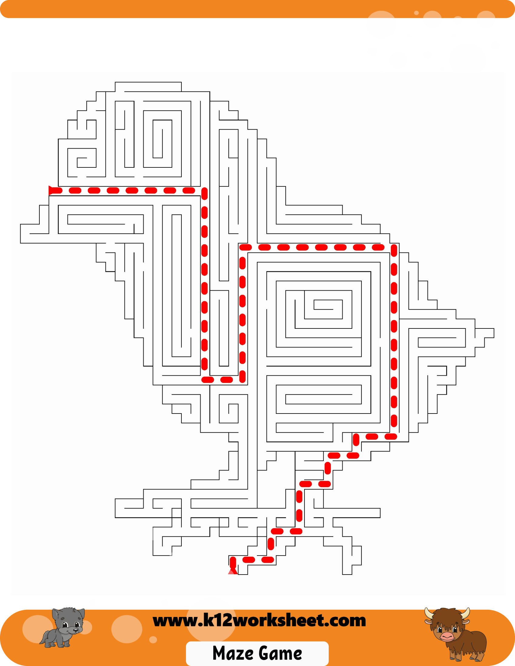 Chicken Maze For Kids Printable Mazes Are Really Fun And
