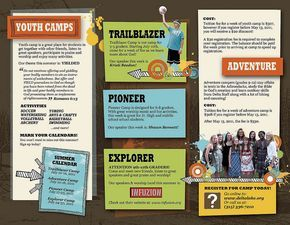 Church Camp Brochure  Verano    Brochures And Churches