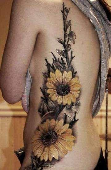 słoneczniki tatuaże