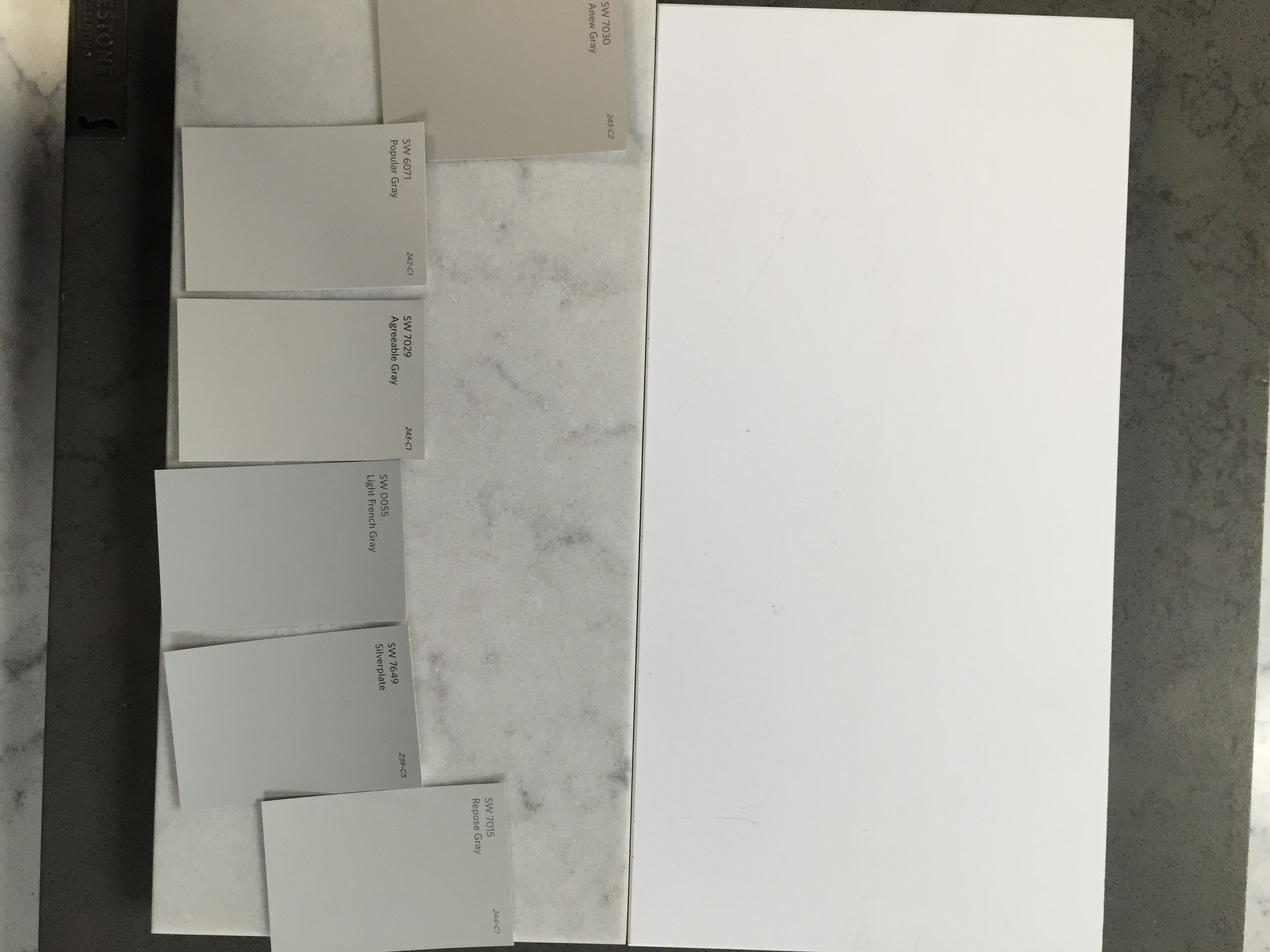 Silestone White Zeus And Lagoon With Sherwin Williams Anew
