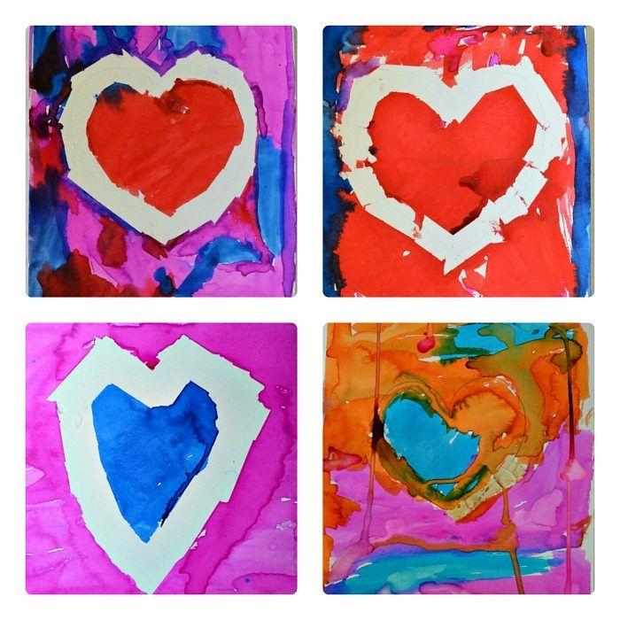 Tape Resit Valentine Art For Toddlers Preschool