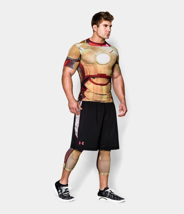 Men S Under Armour Alter Ego Iron Man Compression Leggings Vegas Gold Hombres Novedad