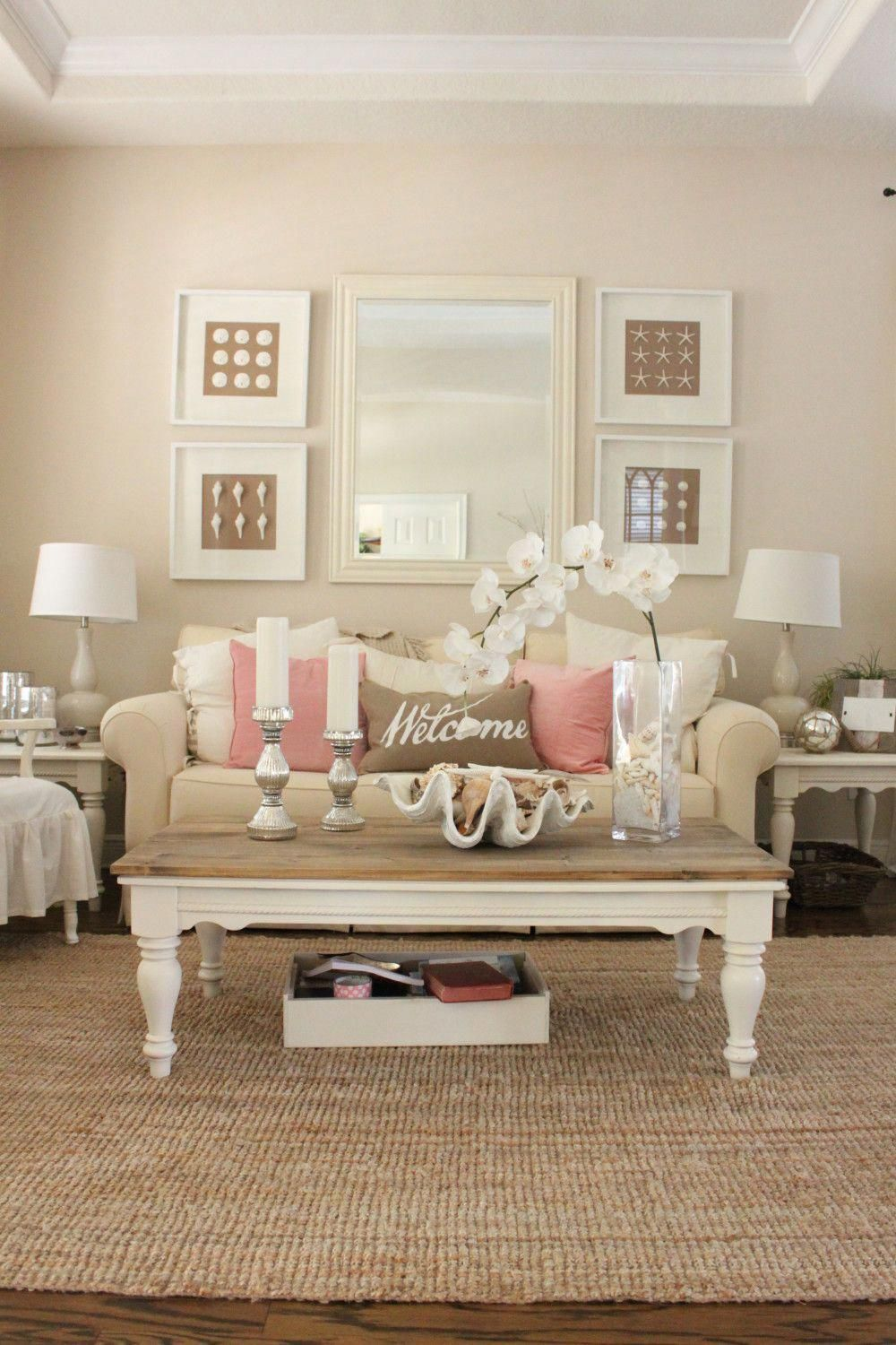 pink decor for living room and dining room  starfish