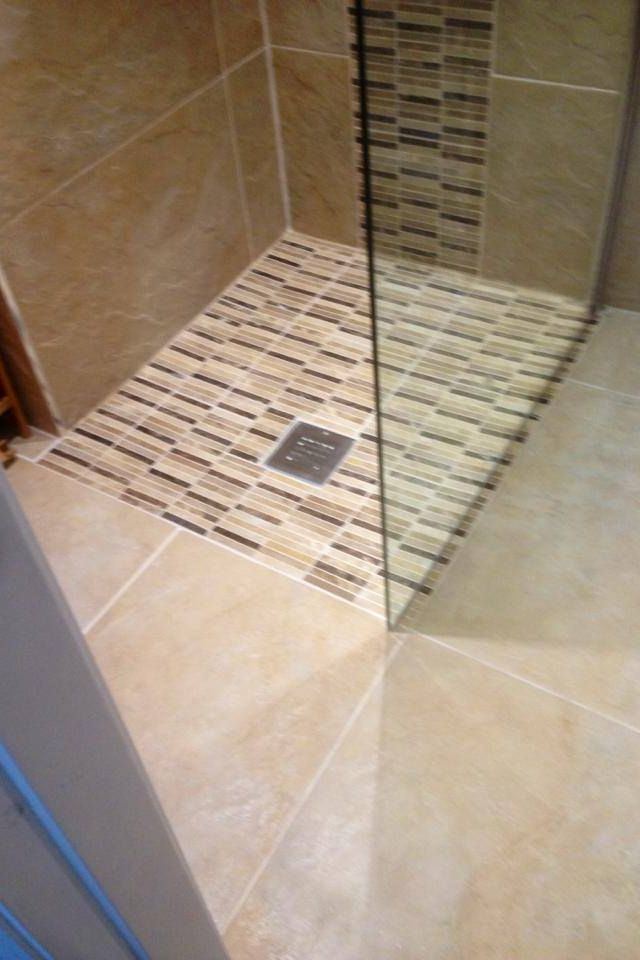 need to decide b/w uniform floor (probably best bet for small bath ...