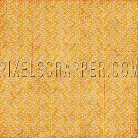 Ornamental 19 - Orange by Marisa Lerin   Pixel Scrapper digital scrapbooking