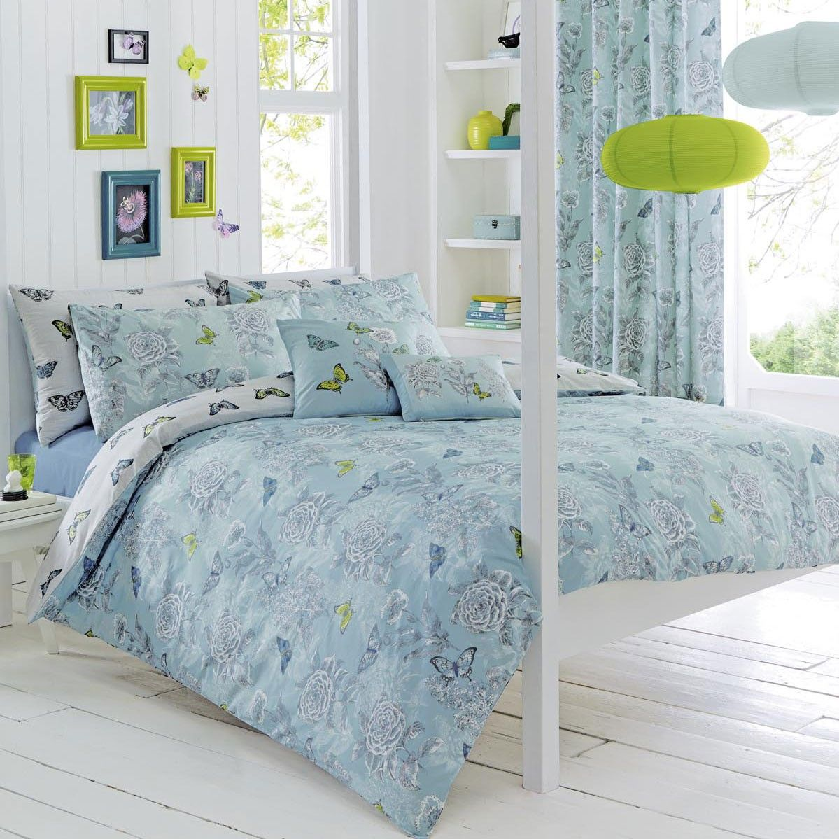 dreams drapes aviana butterfly bedding range duck. Black Bedroom Furniture Sets. Home Design Ideas