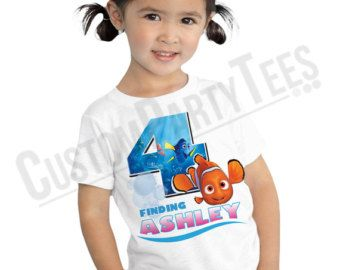 Finding Nemo Birthday Shirt Add Name & AGE by CustomPartyTees