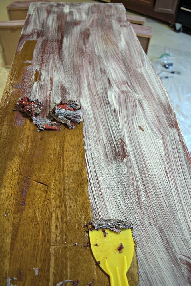 How To Remove Paint From Old Wood Furniture The Easy Way Cleaning Hacks Cleaning Painted Walls House Cleaning Tips