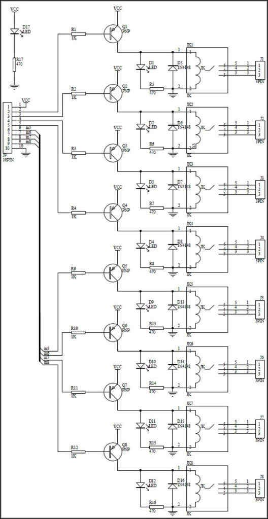5v relay board 8 channel