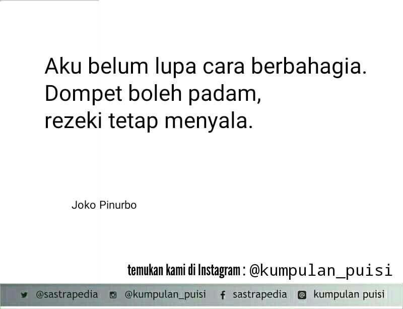 Puisi Pendek Joko Pinurbo Indonesian Poetry Poem Part 1