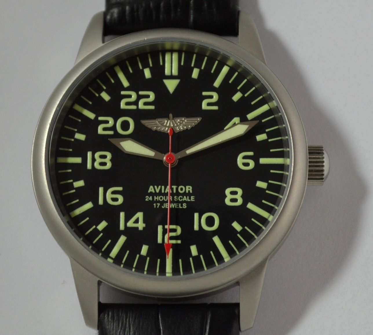 Soviet Military Mechanical watch Raketa Aviator 24 Hours