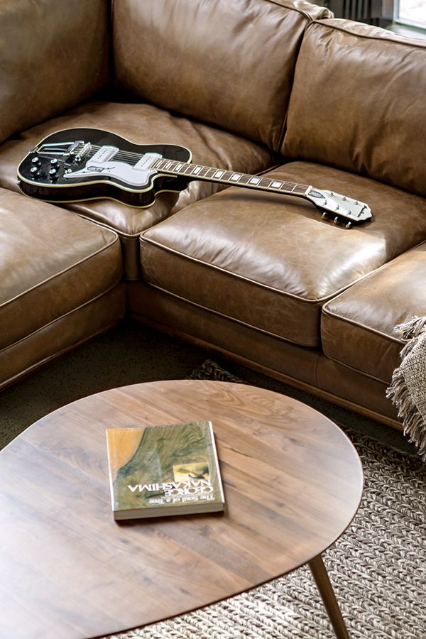 Who Needs A Stage For Your Guitar Solo When You Have Leather Sofa