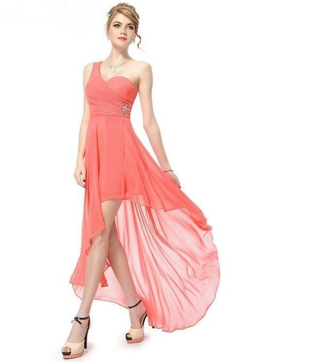093ca6552e08 Dámské luxusní večerní šaty se zirkonkama – společenské šaty broskvové + POŠTA  ZDARMA Na tento produkt