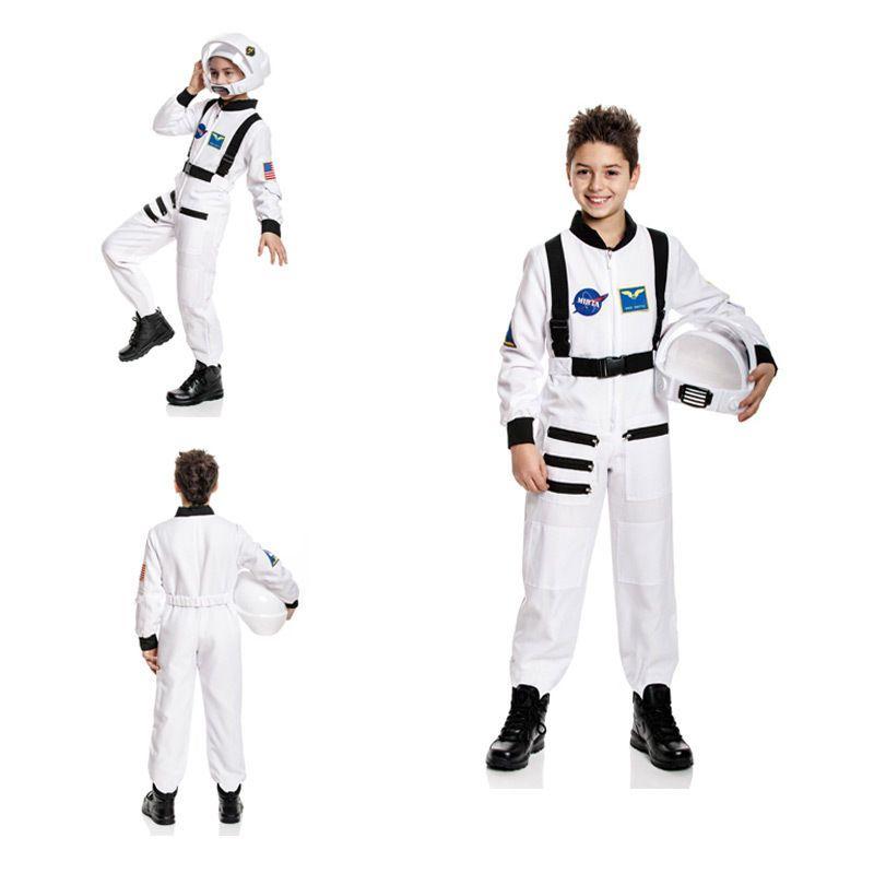 details zu astronauten kost m kinder astronaut astronautenkost m weltraum wei 128 140 152. Black Bedroom Furniture Sets. Home Design Ideas
