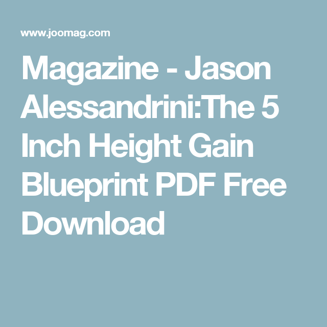 Download height free increase ebook
