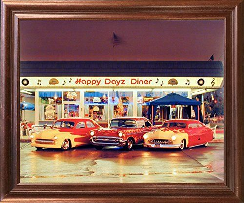 Classic Vintage Cars At Taxi Stand Transporation Wall Decor Art Print 16x20