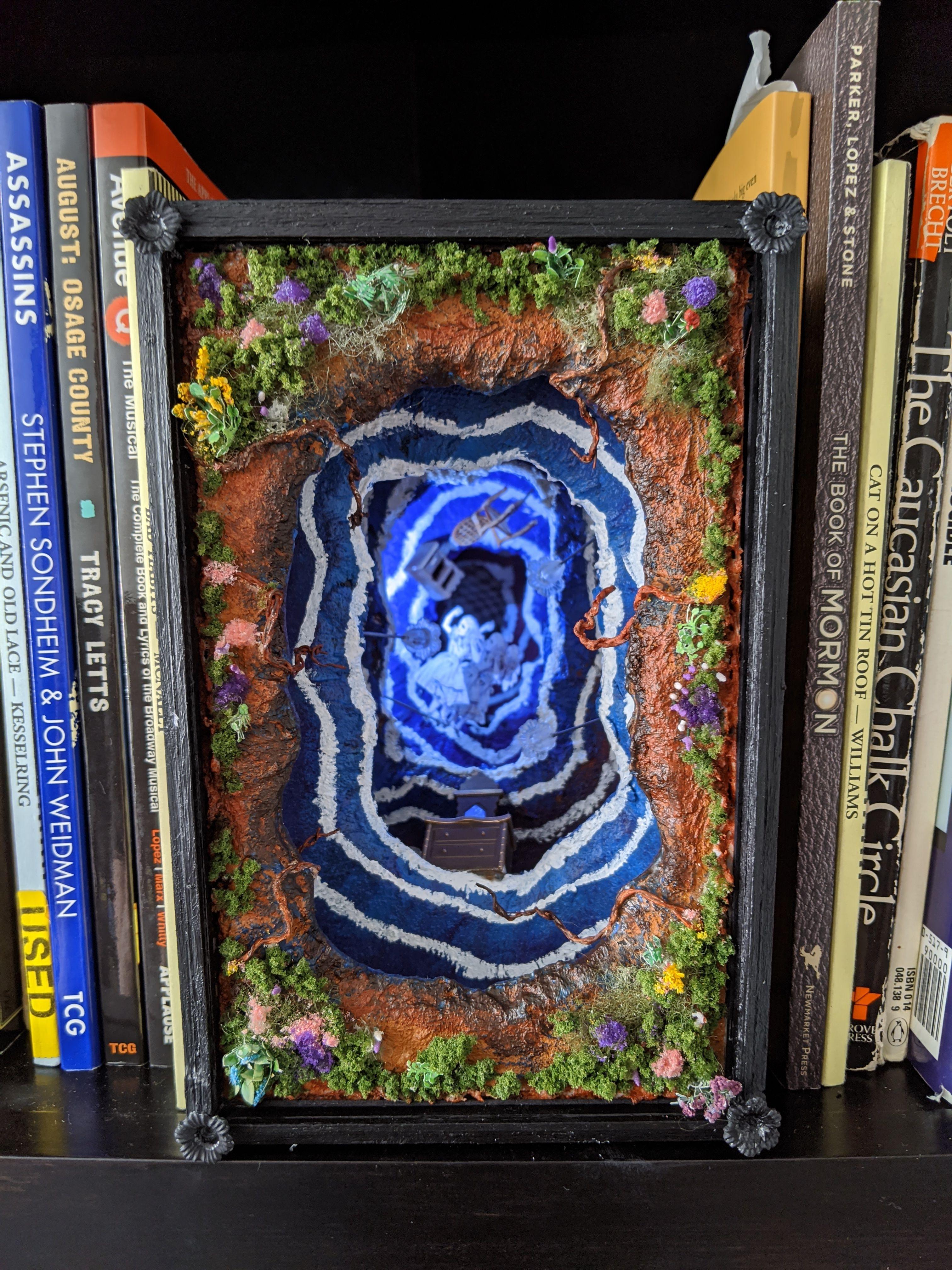 Rabbit Hole Book Nook Bookshelf Art Book Nooks Alice In Wonderland Book