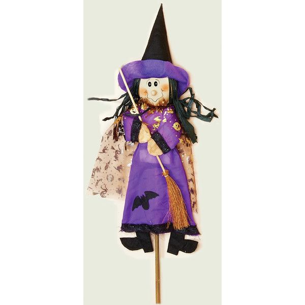 Witch on Stick Halloween Decoration Wayfair Halloween - witch decorations