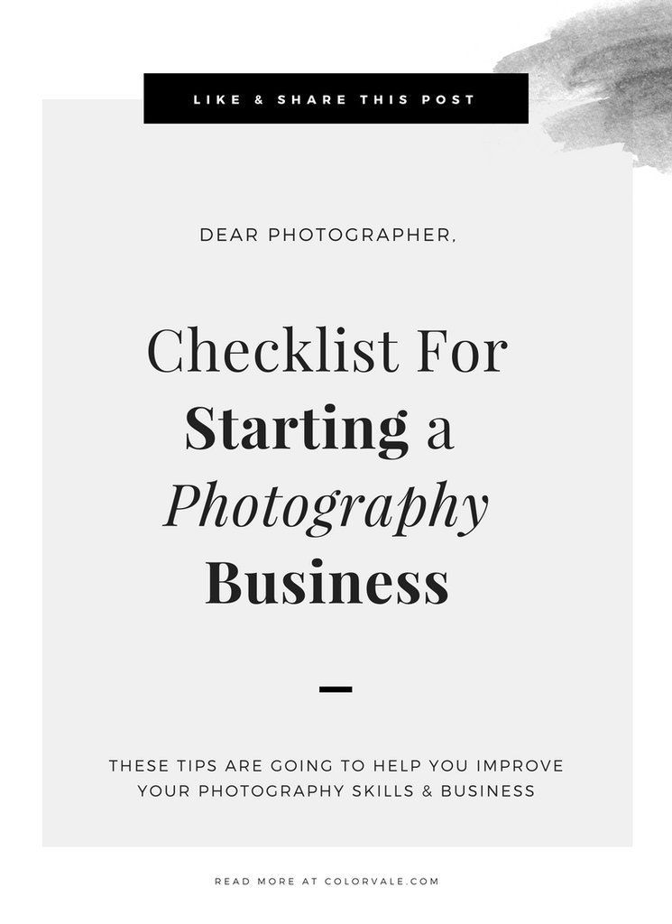 When I first started my photography business I was lost on the