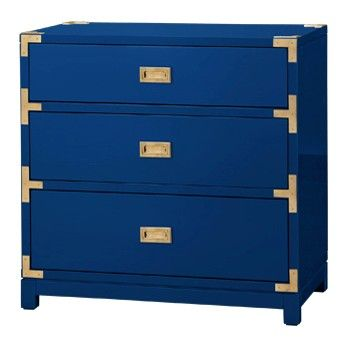 The Tansu 3-Drawer Side Table - High Gloss Navy is sure to become your favorite piece of furniture