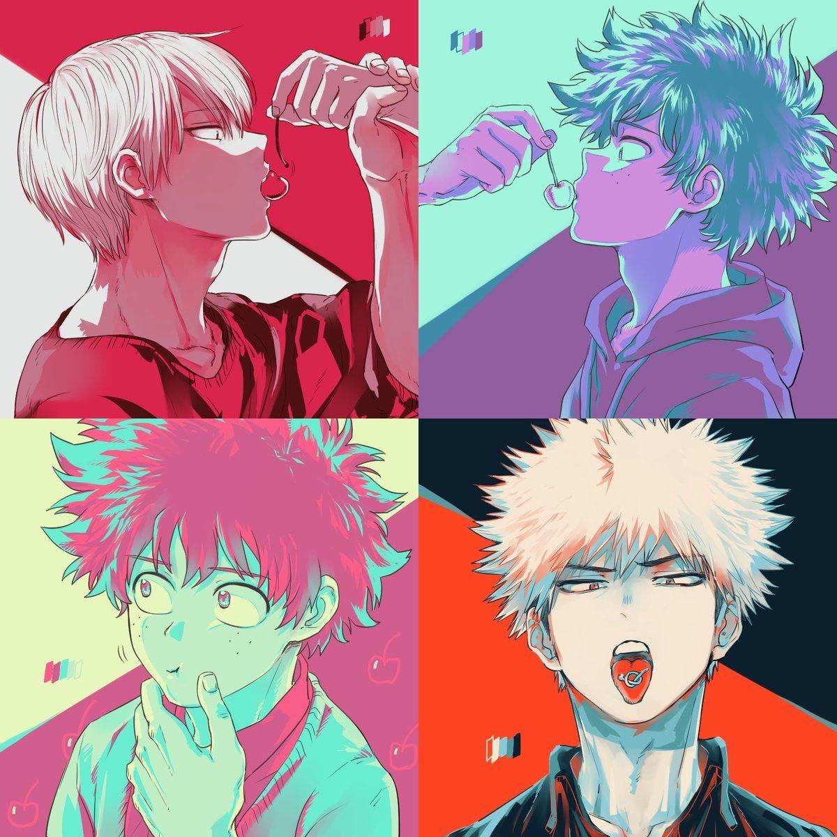 Boku No Hero Academia Todoroki Shouto Midoriya Izuku Katsuki Bakugou My Hero Academia Hero My Hero