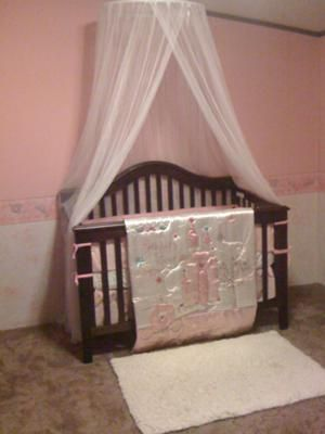 Madison Nichole Gauzy white canopy over our little princess baby