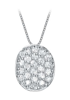 On ideeli: GENEVIVE JEWELRY CZ Oval Shape Pendant Necklace