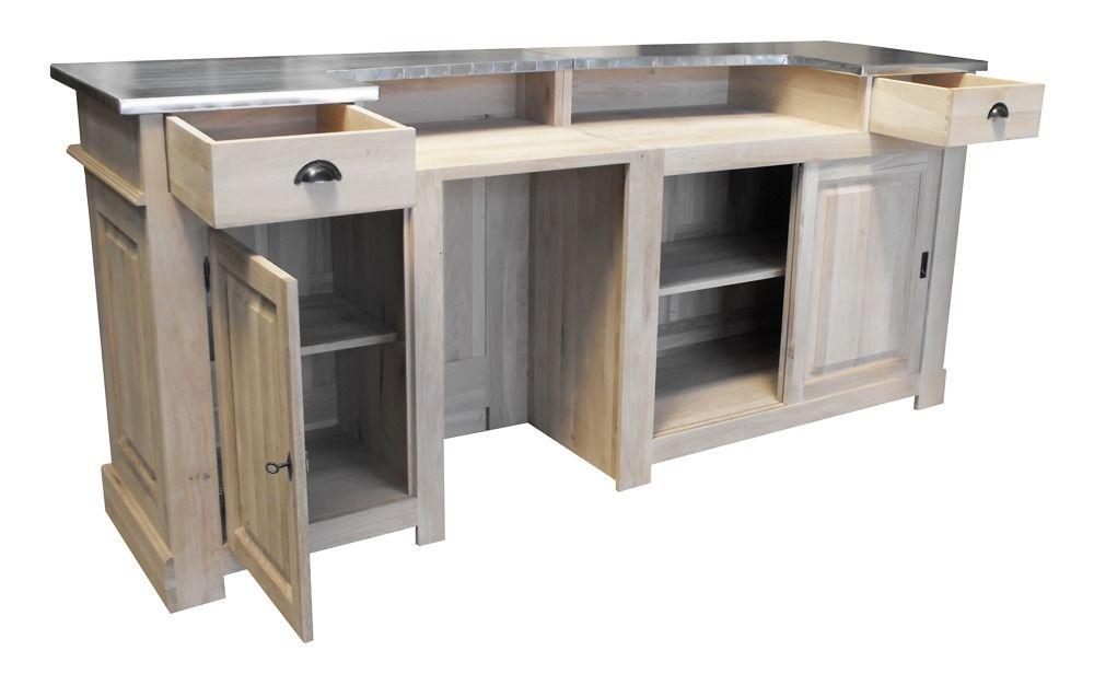 Une fois ouvert, ce meuble de bar en 240cm en chêne massif révèle - Renovation Meuble En Chene