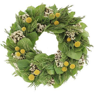 Floral Treasure Bliss Garden Wreath & Reviews | Wayfair