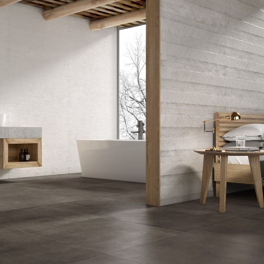 The #Texture's naturalness and timelessness mean that spaces can be decorated with contrasting elements and different materials that provide personality to the spaces.?  .?  .?  .?  #grespaniaceramica #grespania #tilestyle #instagood #instatiles #ceramics