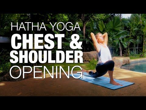 shoulder therapy yoga for tight shoulders 35 min
