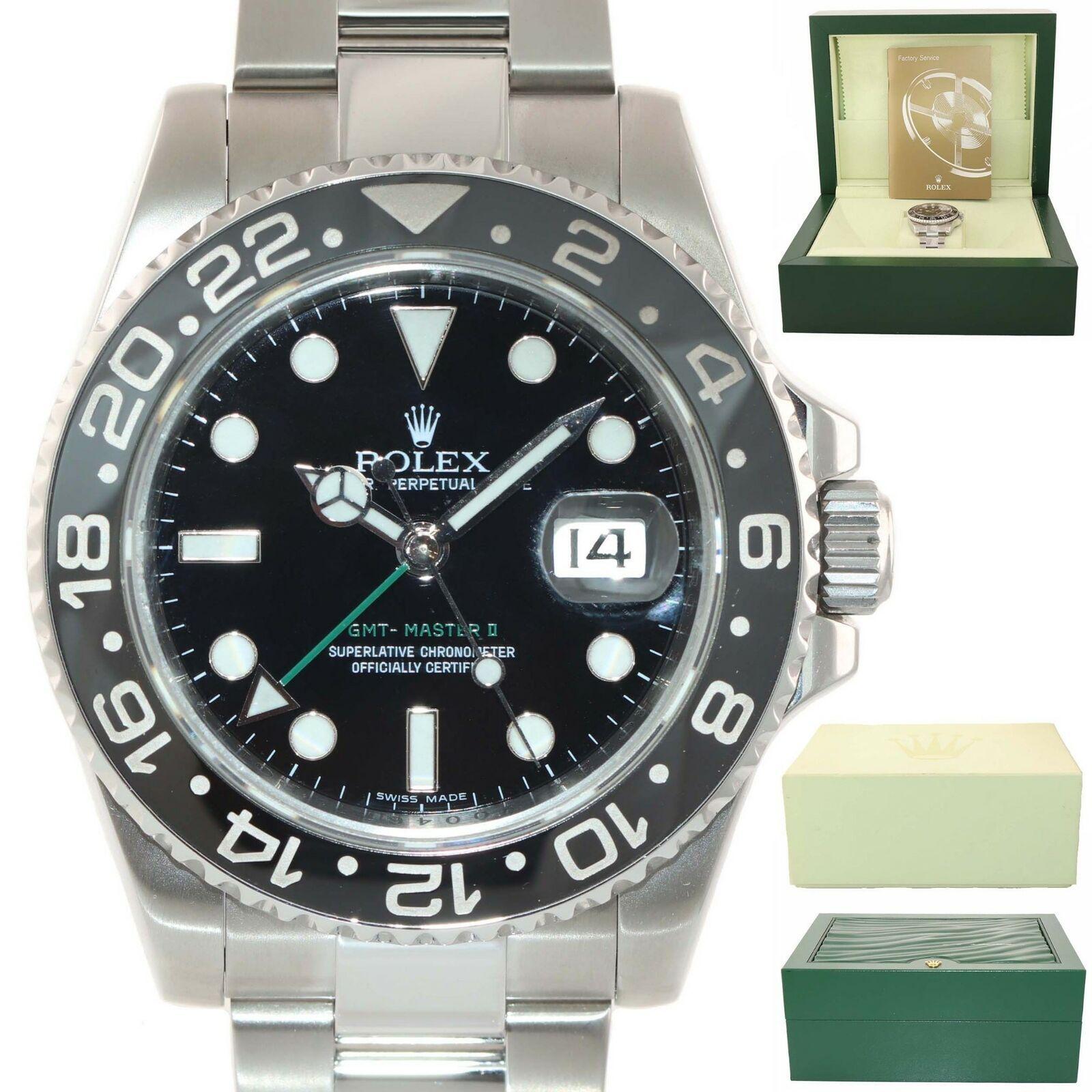 2018 Rolex GMT Master II 116710 LN Steel Ceramic Black 40mm Ceramic Watch Box  - Montre Rolex - idées de Montre Rolex #montrerolex #rolex #montre #rolexgmtmaster