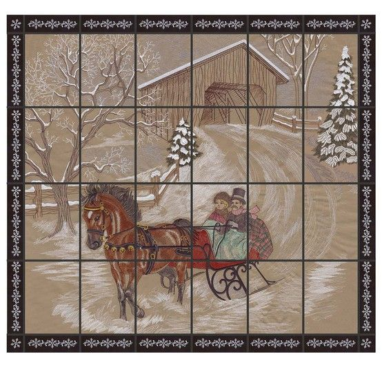 Dashing Through The Snow Embroidery Tiling Misc Embroidery