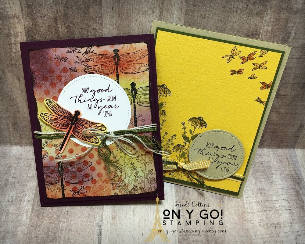 Card Making Ideas with the New Dragonfly Garden St