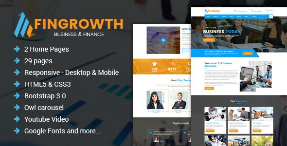 FinGrowth - Business & Finance HTML Template on mobile police, mobile infrastructure, mobile loans, mobile real estate, mobile operations, mobile beauty, mobile housing,