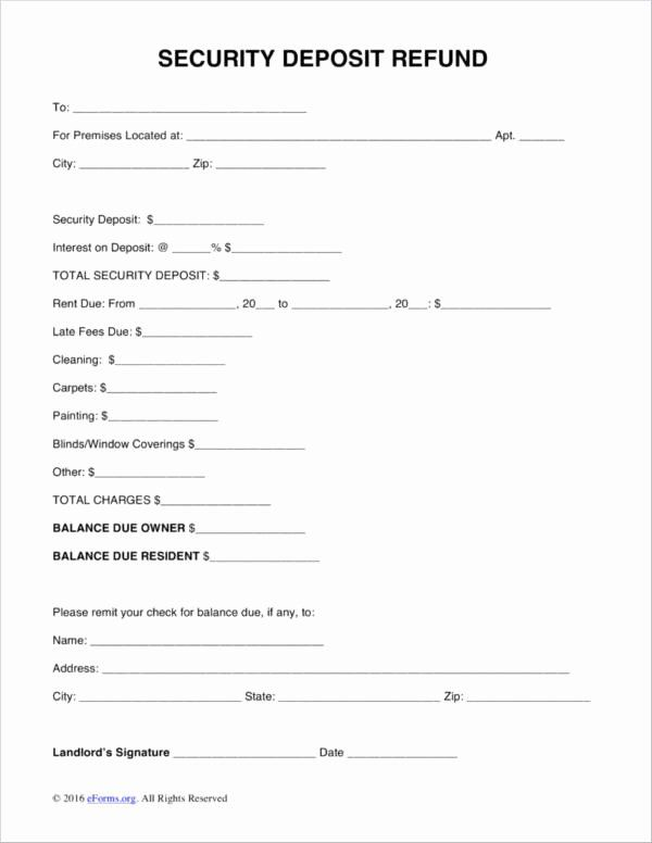 Security Deposit Receipt Template in 2020 (With images