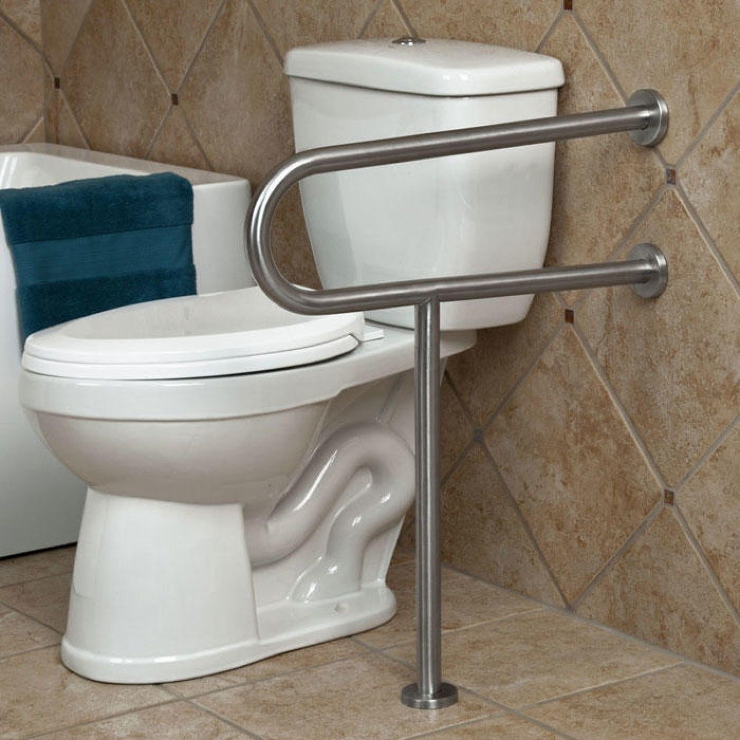 Toilet Grab Bars Safety Handrails handicap bathroom toilet bars - bathroom design ideas | handicap