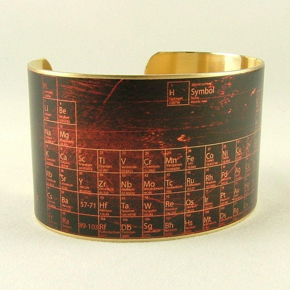 Periodic table of elements chemistry handmade steampunk brass cuff brass cuff bracelet periodic table of elements need jewelry and this is perfect urtaz Gallery