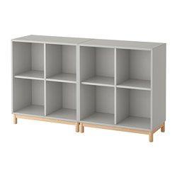 EKET Schrankkombination/Untergestell - hellgrau - IKEA Deutschland
