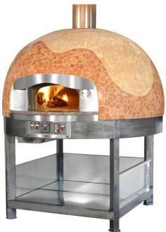 Pizza pec MIX na drevo + plynom vyhrievaná varná doska