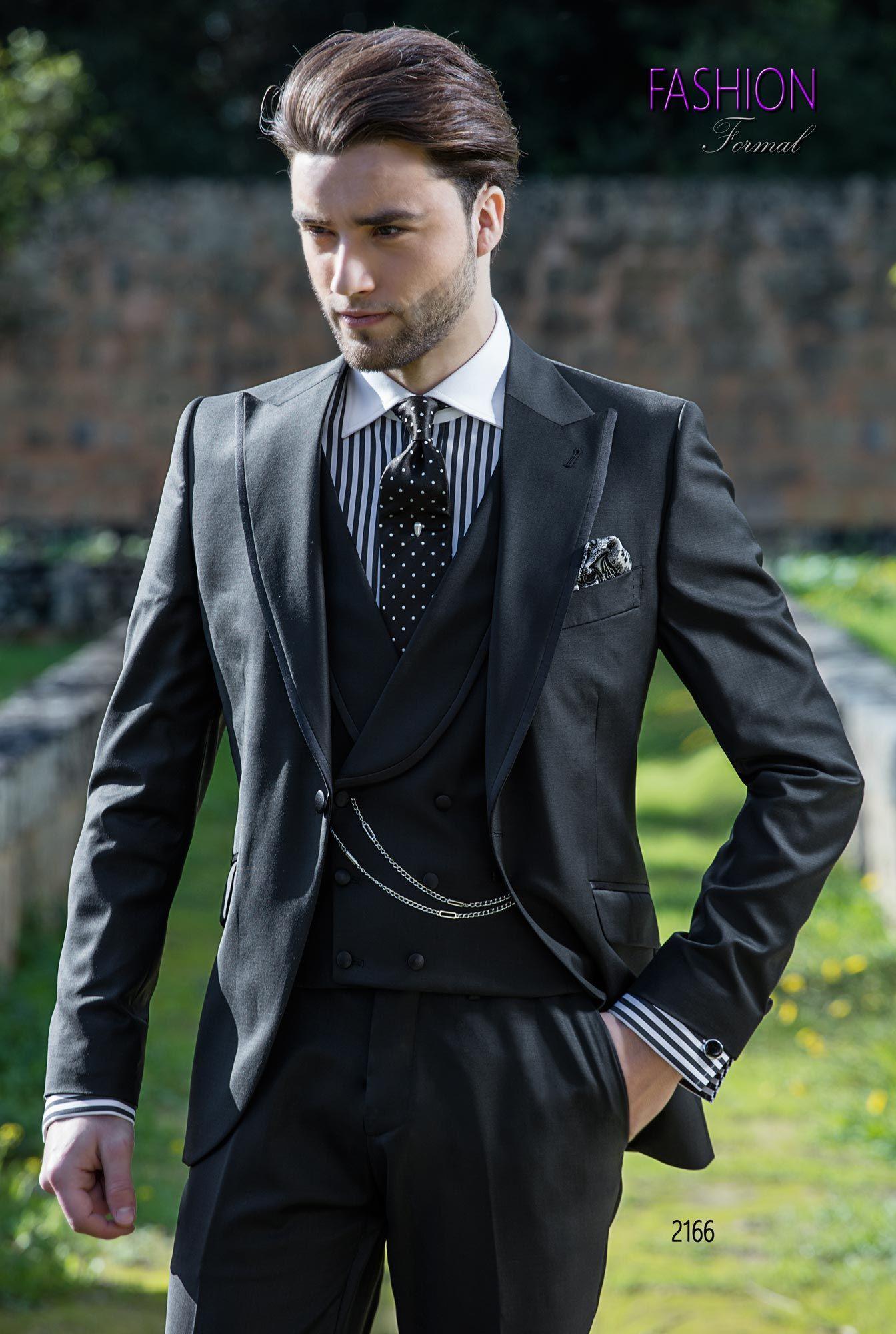 Abito da sposo nero per uomo fashion completo ongala